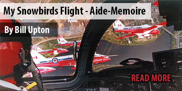 My Snowbirds Flight - Aide-Memoire