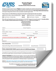 cahs toronto chapter membership form 2017