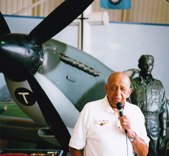 Tuskegee Airmen veteran Lt Col retired Harold Brown 92 told his remarkable story at the Canadian Warplane Heritage Museum 575