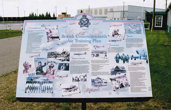 A colourful and informative display on the BCATP