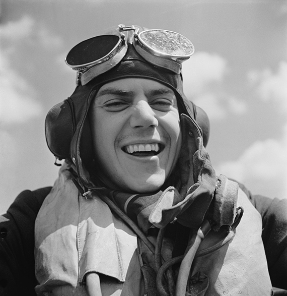 RAF pilot at Hawkinge Airport in Kent during World War II July 1940