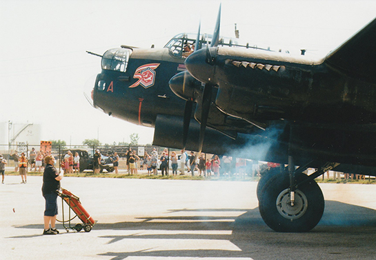 The Mynarski Lancaster fires up on Canada Day Gord McNulty