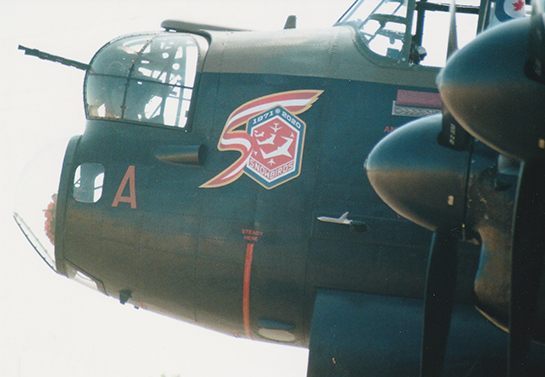 The Snowbirds logo shown on the Mynarski Lancaster this year Gord McNulty