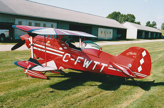Pitts Special S1 T C FWTT was flown in by accomplished aerobatic pilot Hella Comat June 28 2018