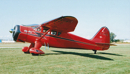 Stinson Reliant C FATE Big Red at Guelph Sept 15 2018 Based at Burlington in the summer and Calgary in the winter