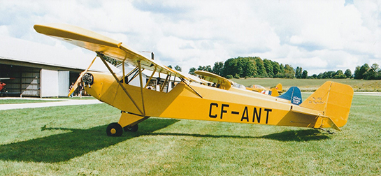 Taylor E 2 Cub CF ANT built in 1935 was the first Cub to fly in Canada Guelph Sept 15 2018