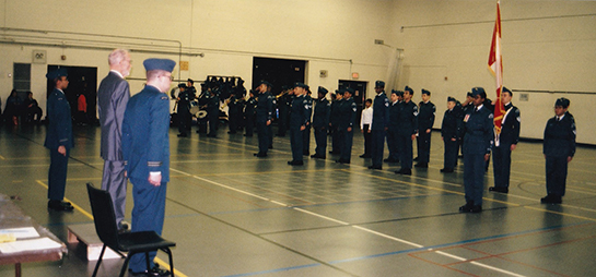 631 Sentinel Squadron Royal Canadian Air Cadets at the COs Parade in Scarborough on Nov 29