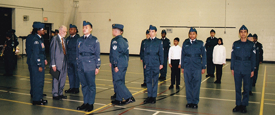 631 Sentinental Squadron Air Cadets are inspected by Sheldon Benner