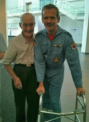 sydney baker with col chris hadfield 300