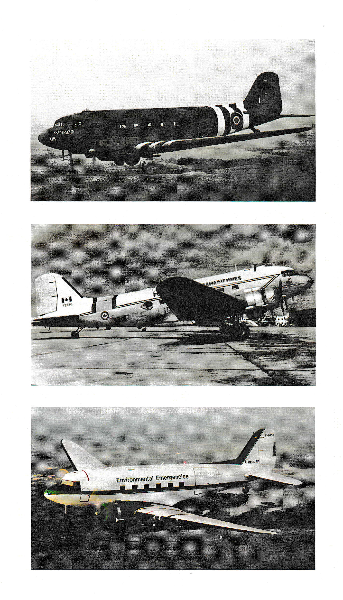 13 Photos in the brochure illustrate some of the various stages in the long career of DZ692