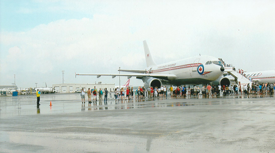 15 Visitors tour Airbus CC150 Polaris during rainy Air Force Day at CWHM July 6 2019 Osborne R Love