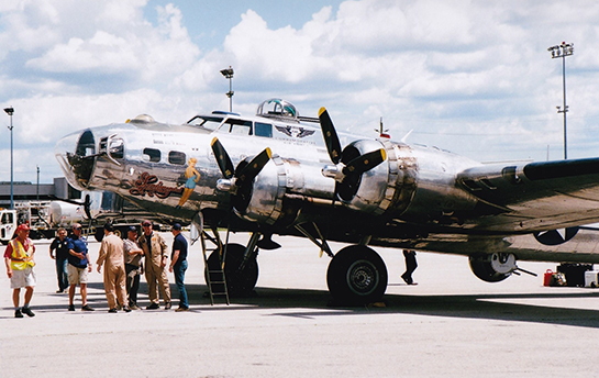 The Commemorative Air Force crew of B 17G