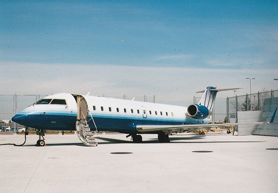 The CRJ200 donated to Centennial College by Bombardier spent its entire career with SkyWest Airlines Gord McNult