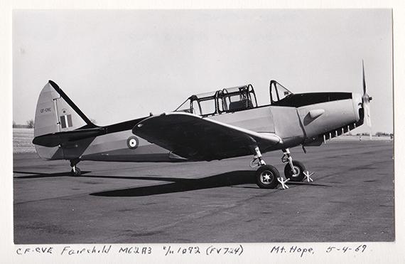 Fairchild Fleet Cornell CF CVE ex RCAF FV724 Mount Hope 5 4 69 Jack McNulty Collection