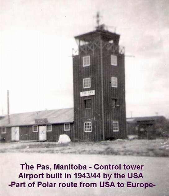 1948 The Pas Manitoba Control Tower