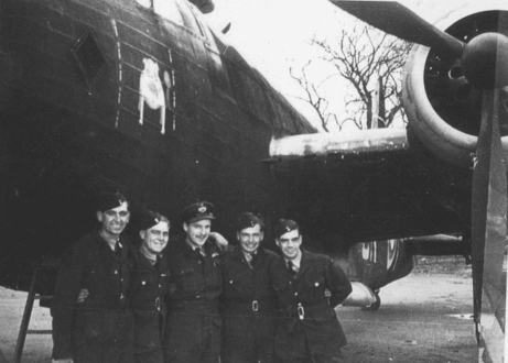 7 Winston Lancaster bomber members of crew feature