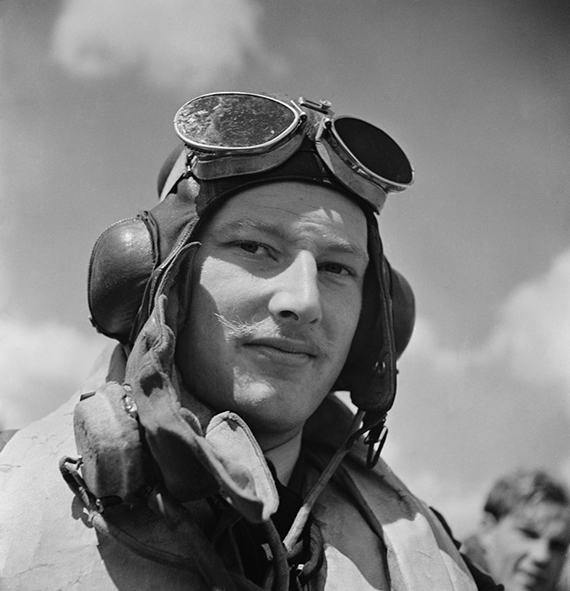 RAF pilot at Hawkinge Airport in Kent during World War II July 1949