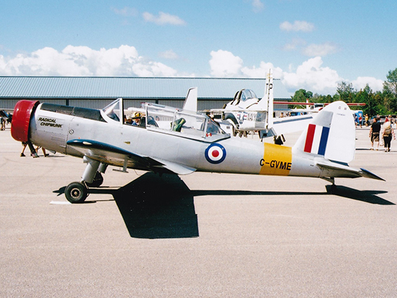 An unusual DHC 1 Chipmunk C GVME with a Rotec radial engine 575