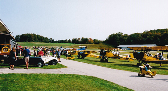 Grassroots aviation is exemplified by the colourful scene at the Tiger Boys Open House at Guelph Sept 16 2017 Gord McNulty