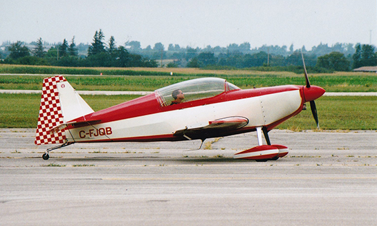 Trevor Rafferty performed aerobatics in his Rafferty Javelin at the Brantford Air Show Gord McNulty
